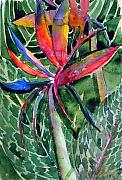 Floral Landscape Posters - Bird of Paradise Poster by Mindy Newman