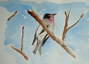 Bird On Tree Prints - Bird on Branch Print by Ron LaRue