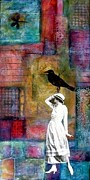 Susan Mccarrell Art - Bird on Head by Susan McCarrell