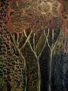 Autumn Reliefs - Bird Seed Tree by Angela Dickerson