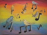Singing Pastels Originals - Bird vocalization by John Fierro