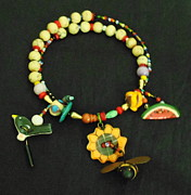 Sunflower Jewelry - Birds and Bees by Whitey Martin