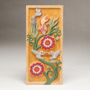 Carved Reliefs Originals - Birds and Blossoms by James Neill