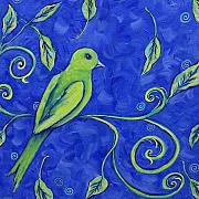 Periwinkle Originals - Birds Eye View in Blue by Dana Marie