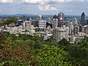 Quebec Photos - Birds Eye View Of Montreal, Canada by Stacy Gold