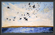 Oils Originals - Birds In Flight At Pushkar by Anand Swaroop Manchiraju