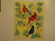 Animals Jewelry Posters - Birds In the Trees Poster by Dennis Buchy