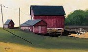 Farm Building Prints - Birds Print by John Chehak