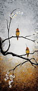 Abstract Wildlife Painting Prints - Birds Print by Mike Irwin