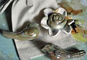 Flower Ceramics Originals - Birds of a Feather by Amanda  Sanford