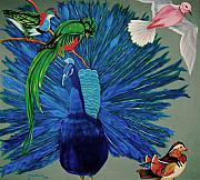 Cuban Mixed Media - Birds  Of Different Feathers.  by George Chacon