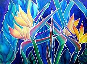 On Paper Tapestries - Textiles - Birds Of Paradise  by Francine Dufour Jones