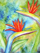 Flower Paintings - Birds of Paradise by Carlin Blahnik