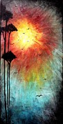 Sunset Prints Mixed Media Posters - Birds Of The Sun Poster by Mike Grubb