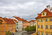 Red Roofs Photos - Birds Over Prague by Madeline Ellis