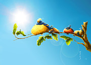 Pixar Digital Art - Birds under sun by MupsuS