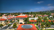 Rooftops Art - Birdseye View of Santa Barbara IV by Steven Ainsworth