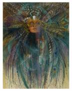 Pam Mccabe  Pastels Posters - Birdtribe Magic Poster by Pamela Mccabe
