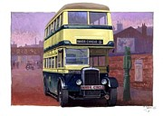 Bus Paintings - Birmingham Daimler COG5 offside by Mike  Jeffries