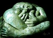 Mother Sculpture Prints - Birth Bliss Print by Angela Treat Lyon
