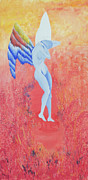 Cadmium Red Posters - Birth of an Angel Poster by Stephanie  Schuster