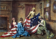 First Star Framed Prints - Birth Of The Flag Framed Print by Granger