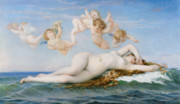 Cherub Framed Prints - Birth of Venus Framed Print by Alexandre Cabanel