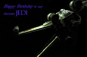 Fighter Star Fighter Posters - Birthday Card Poster by Micah May