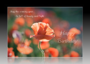 Birthday Card Prints - Birthday wishes of beauty and light Print by Lisa Knechtel