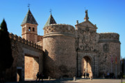 Castilla Prints - Bisagra Gate Toledo Spain Print by Joan Carroll