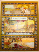 Belle Epoque Originals - Biscuits Lu Three City Label RARE by Mucha Alfonse
