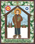 Catholic Art Painting Originals - Bishop Frederic Baraga Icon by David Raber
