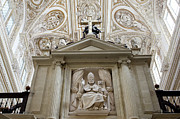 Renaissance Sculpture Prints - Bishop Sculpture in Cordoba Cathedral Print by Artur Bogacki