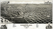 1880s Framed Prints - Bismarck, North Dakota, The Capital Framed Print by Everett