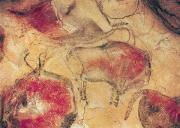 Prehistoric Paintings - Bisons from the Caves at Altamira by Prehistoric