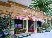 Bistro Painting Framed Prints - Bistro Jeanty Napa Valley  Framed Print by Gail Chandler