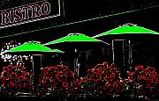 Patio Digital Art - Bistro by Will Borden