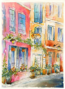 Vines Framed Prints - Bistrot de Marie Framed Print by Pat Katz