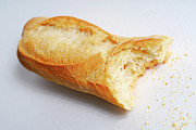 Food And Drink Art - Bitten french baguette by Sami Sarkis
