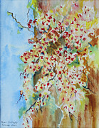 Bittersweet Painting Posters - Bittersweet Tree Poster by Joan Putnam