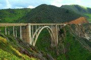 Big Sur Prints - Bixby Bridge in Big Sur Print by Charlene Mitchell