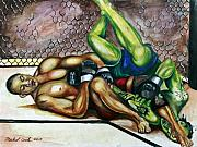 Championship Mixed Media - BJ Penn vs. Jens Pulver by Michael Cook