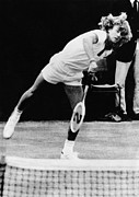 Tennis Player Metal Prints - Bjorn Borg At Wimbledon, 1974 Metal Print by Everett