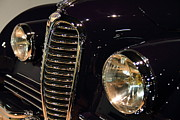Transportation Art - Black 1948 Delahaye . Grille View by Wingsdomain Art and Photography