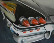 Dean Painting Originals - Black 1958 Chevrolet by Dean Glorso