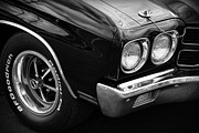V8 Chevelle Posters - Black 1970 Chevelle SS 396  Poster by Gordon Dean II