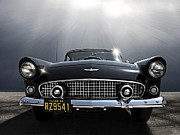 Automotive Art - Black 56 T-Bird by Douglas Pittman
