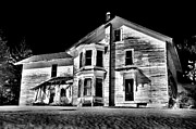 Abandoned Houses Photo Metal Prints - Black Abandonenment Metal Print by Emily Stauring