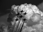 Blue Angel Photos Posters - Black and Blue Angels Poster by Strato  ThreeSIXTY
