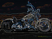 Cruiser Prints - Black and Blue Print by Eric Dee